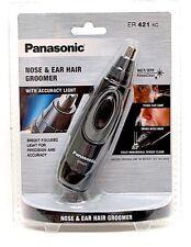 PANASONIC MENS ER421KC NOSE & EAR HAIR TRIMMER GROOMER w/LED, WASHABLE ER421 NEW