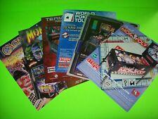 Pinball FLYERS 6 Original Monopoly Revenge Mars Terminator 3 Monster Bash #48
