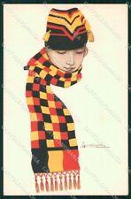 WW1 WWI Propaganda Lady Belgian Flag Nanni cartolina XF6693