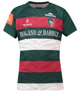 Leicester Tigers Rugby Shirt Jersey Men's Kukri 2018-19 Home Shirt - Green - New