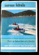 """E83) Cartes """"Heureuse retraite"""" + enveloppe - Neuf"""