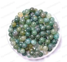30pcs Aquatic agate Natural Gemstone Round Spacer Loose Beads 6MM #8