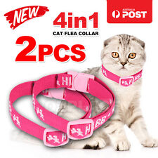 2X Adjustable 4in1 Cat Dog Pet Flea Egg Tick Collar Protection Kill Mosquitoe AU