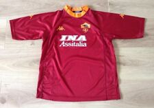 AS ROMA FOOTBALL SHIRT HOME KIT KAPPA SIZE YXL YOUTH XL INA ASSITALIA VGC