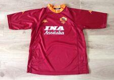 La ROMA Football Shirt Home Kit KAPPA TAGLIA YXL Gioventù XL INA ASSITALIA in buonissima condizione