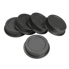 5Pcs Rear Lens Cap Dust Cover for Canon EF ES-S EOS Series Lens Black