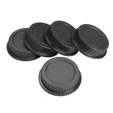 5Pcs Rear Lens Cap Dust Cover for Canon EF ES-S EOS Series Lens Black