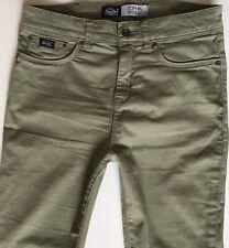 Ladies Superdry Sophia Skinny Green Jeans W28 L30 (hj337)