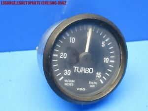 PORSCHE 911 930 TURBO BOOST VACUUM INCHES POUNDS GAUGE LBS/SQ OEM VDO 2""
