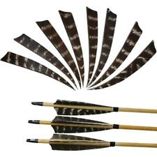 PACK 36,50,100 4/'/' Shield Turkey Feather Fletching Arrow Vanes 6Colors Available
