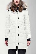 Canada Goose Lorette Parka Black Label White 2090LB $995 Medium