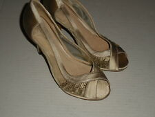 Menbur Tuape Satin/Mesh  Peep Toe  (3.5 inch)  Heels  Eur SZ 38 (sz 7.5)
