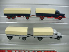 ab161-0, 5 #2x Wiking H0 Truck/Lorry : Magirus-Deutz + Krupp titanium, Top