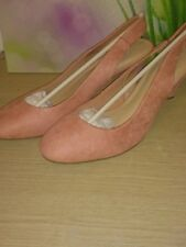 M&S ANGULAR STILETTO Heel SLINGBACK COURT SHOES ~UK 8~ EUR 42 PINK COLOUR