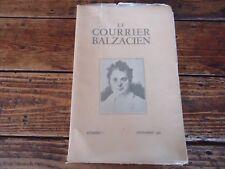 LITTERATURE BALZAC - LE COURRIER BALZACIEN N°1 DECEMBRE 1948 - REVUE MENSUELLE
