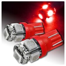 2 X T10 RED LED Dash Gauge Instrument Light Bulbs Interior W5W