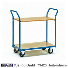 Fetra Table Trolley 1600 With 2 Wood Floors Wheel Ø 125 Mm