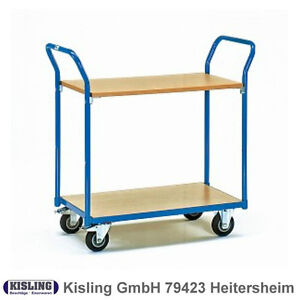 Fetra Chariot de Table 1600 Avec 2 Planchers de Bois Roue Ø 125 MM