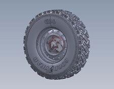Legend 1/35 Wolf WMIK Aggressive Tread Wheel Set w/2 Spares (Hobby Boss) LF1228