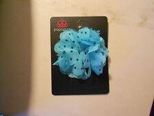 Paparazzi Fashion Hair Clip or Pin (new) TEAL FLOWER W/BLACK POLKA DOTS