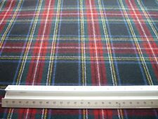 Stewart Black Tartan Fabric 100% Wool Check Plaid Black Stewart Tartan