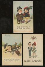 ARTIST E.B KEMBLE 1910-15...PINK PERFECTION PPCs...5 CARDS