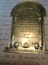 Brass-Copper-Plaque-GRAND-HOTEL-CAIRO, RISQUE