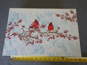 "Punch Studio Christmas Red Cardinal Gift Memory Nesting Box LARGE 14.5"" x 10"""