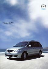 Prospetto MAZDA MPV 8.6.02 2002 brochure auto prospetto auto PKW Giappone Asia