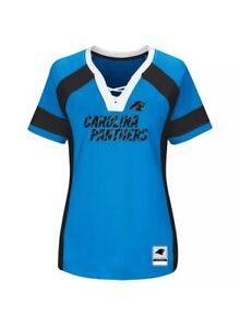 Women's Majestic Carolina Panthers Draft Me Fashion Top- Med. MSRP $55