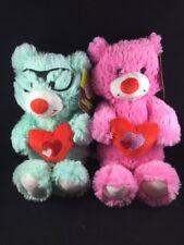 Valentines Day Plush Bears Boy Girl Hearts Set of 2 Nwt Boyfriend Girlfriend