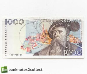SWEDEN: 1 x 1,000 Swedish Krona Banknote.