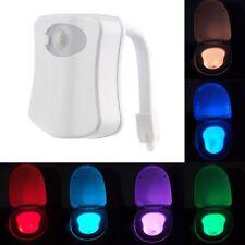LED Toilette Automatique Siège D'éclairage Salle De Bain Lampe Sensor Motion