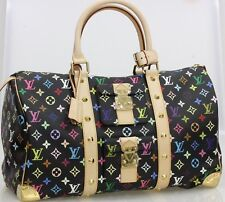 LOUIS VUITTON LV MURAKAMI MULTICOLORE KEEPALL 45 BAG BLACK NOIR 100% AUTHENTIC