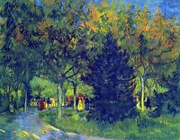 Allee in the Park by Vincent Van Gogh Giclee Fine Art Print Repro on Canvas