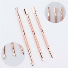 3X Nail Art Cuticle Spoon Pusher Scraper Remover Manicure Pedicure Professional