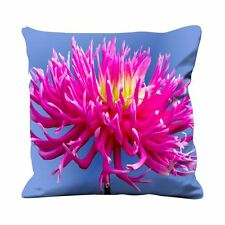 Pink Dahlia Flower Faux Silk 45cm x 45cm Sofa Cushion