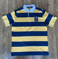 NWOT PAUL & SHARK Yachting Blue and Yellow Polo Shirt Size L US SALE!!!