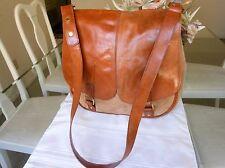 SANDER'S For CARINA NUCCI Brown Leather Unisex Messenger Shoulder Bag - Italy