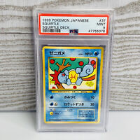 PSA 9 MINT Japanese SQUIRTLE 007 #37 Squirtle Deck Intro VHS Promo Pokemon Card