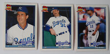 1991 Topps Traded Kansas City Royals Team Set of 3 Baseball Cards