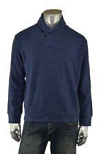 Ralph Lauren Polo Azul Marino Algodón ante Francés Canalé Cuello Chal Jersey XS