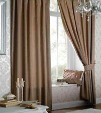 Catherine Lansfield Faux Silk Curtains & Pelmets