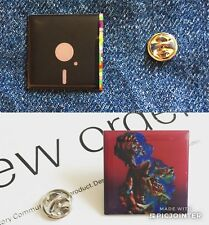 New Order 2 Pin Badge Set .... Manchester Factory Records Enamel