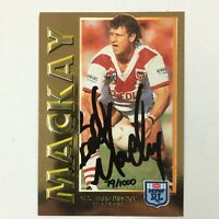 1994 Dynamic Rugby League Series 1 Embossed Gold Signature Card G3: Brad Mackay