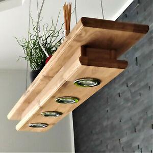 LED Holz Pendellampe Hängelampe rustikal Leuchte Eiche Pendelleuchte Esstisch A+
