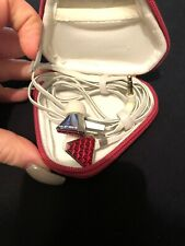 RARE Beats By Dr. Dre - Heartbeats By Lady Gaga Monster Earbuds Red Chrome