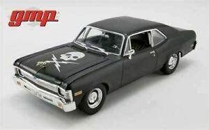 GMP 1:18 Scale Diecast Car - DEATH PROOF - 1971 Chevrolet Nova Matte Black