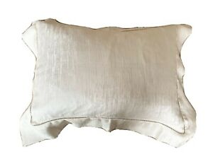 FRETTE 100% Silk Accent Pillow Case 16x12 Ecru Italy New Without Tags $300