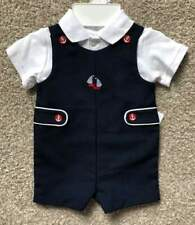 Starting Out Brand Newborn Baby Boy Navy Blue Nautical Romper Outfit NWT
